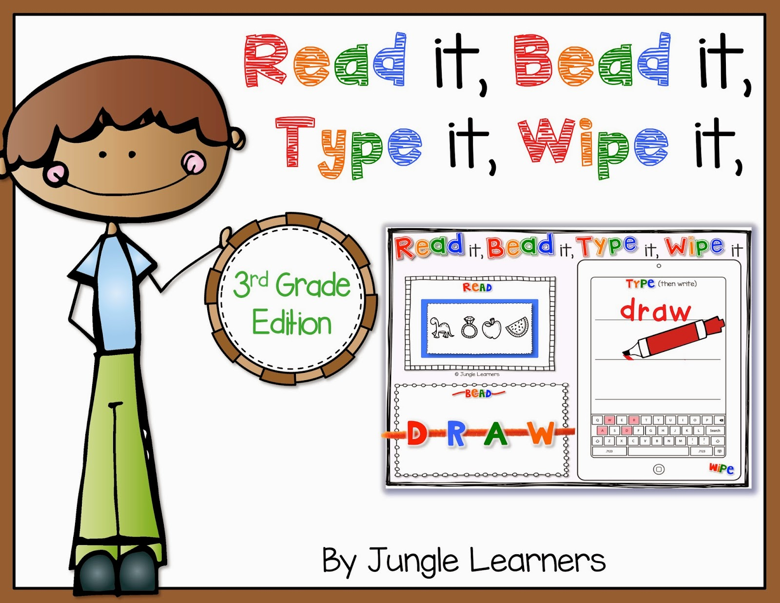 Read it, Bead it, Type it, Wipe it [3rd Grade Edition]