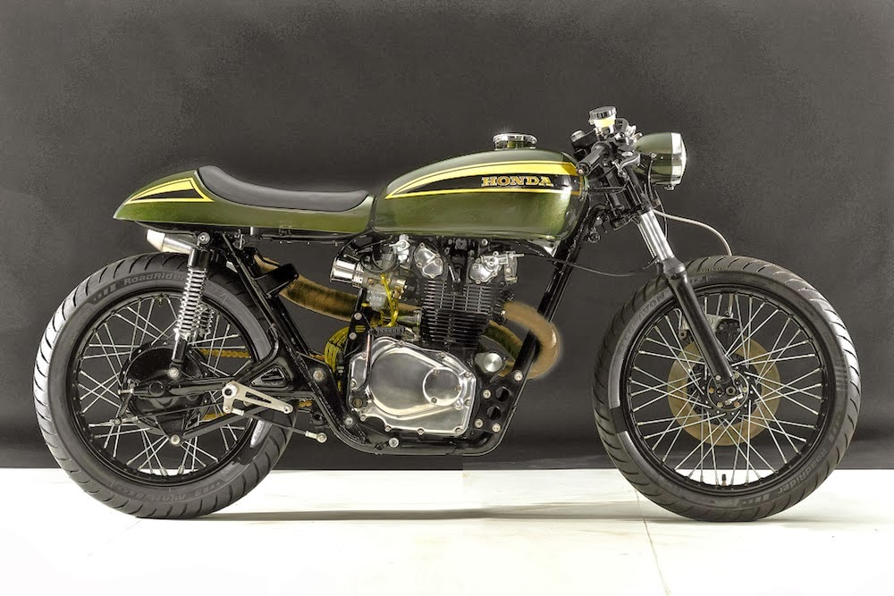 Honda CB 450 1973 Cafe Racer By Hangar Cycleworks
