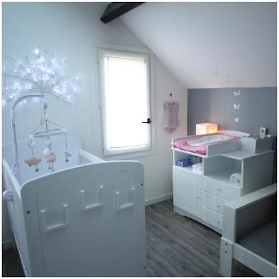 Un nouveau regard chambre b b rose grise for Deco chambre bebe blog