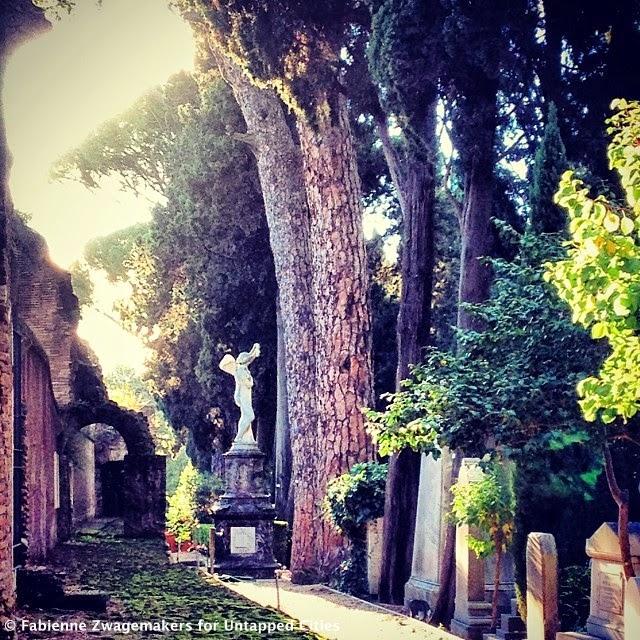 the protestant cemetery testaccio rome