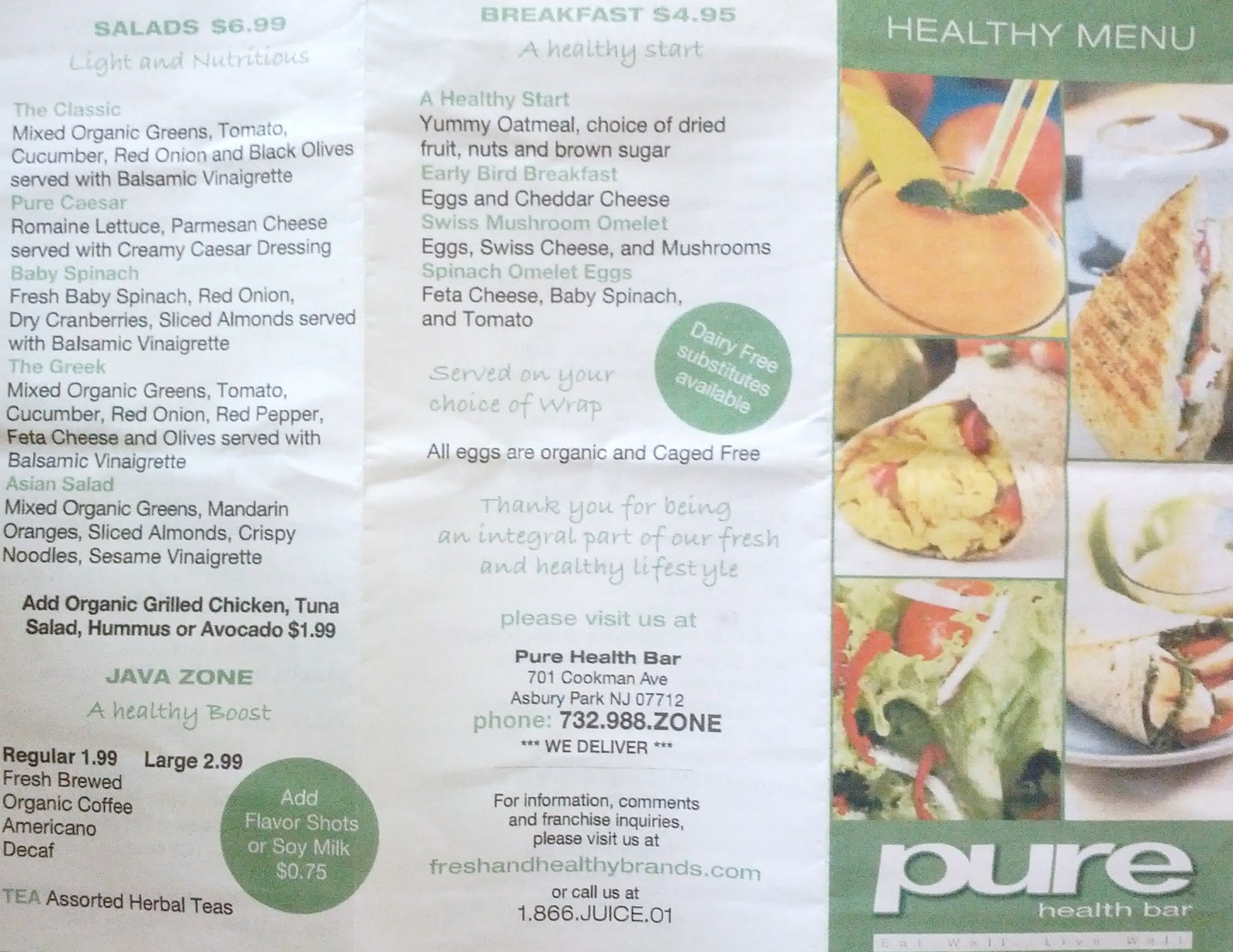 Pure health bar inexpensive convenient healthy food in for Food bar health