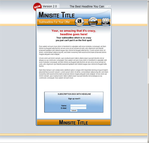 template mini-site web 6