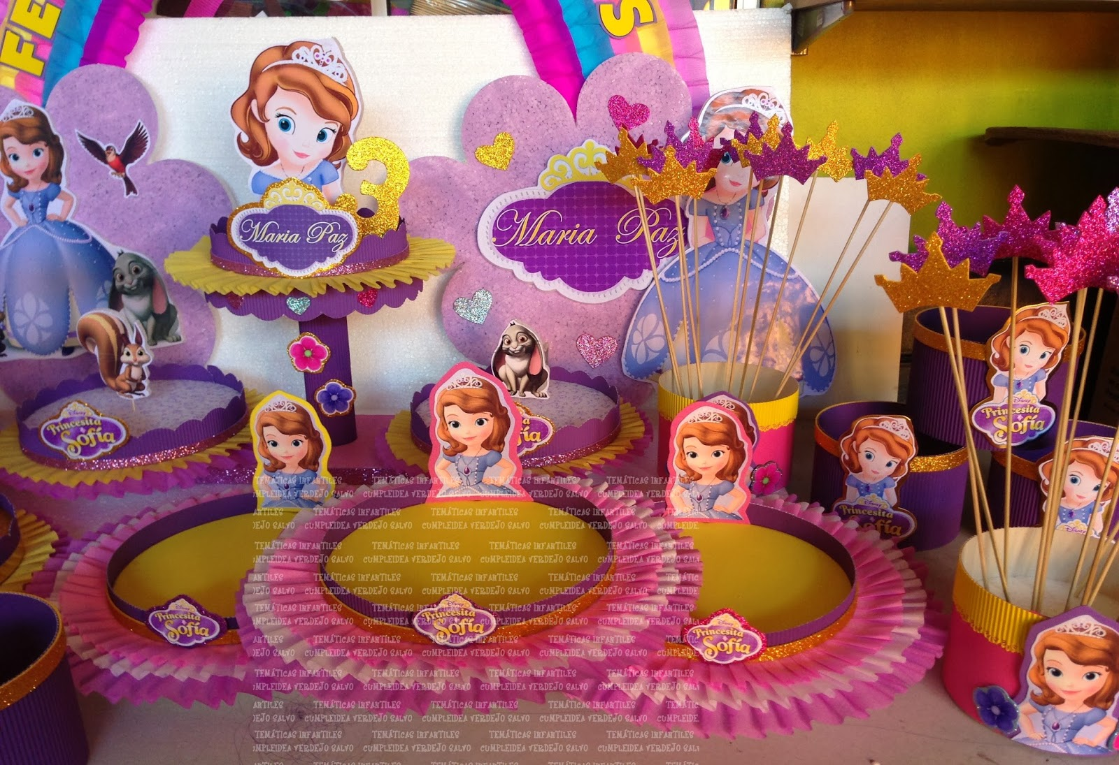 Decoracion de princesa sofa decoraciones princesita sofia for Decoracion de princesas