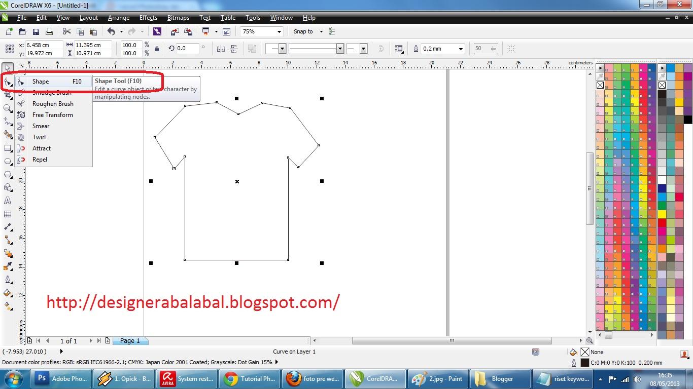 Cara Membuat Desain Kaos Dengan Corel Draw