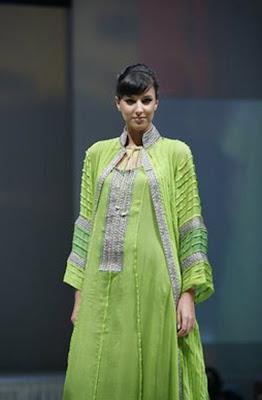 Wedding gown fashion jalabiya green yellow