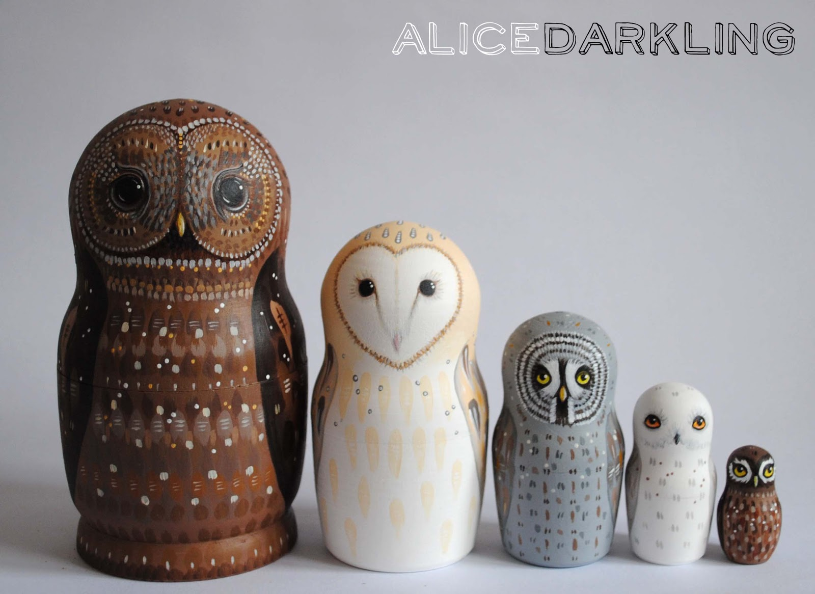 Russian Nesting Dolls Owls More Owl Nesting Dolls