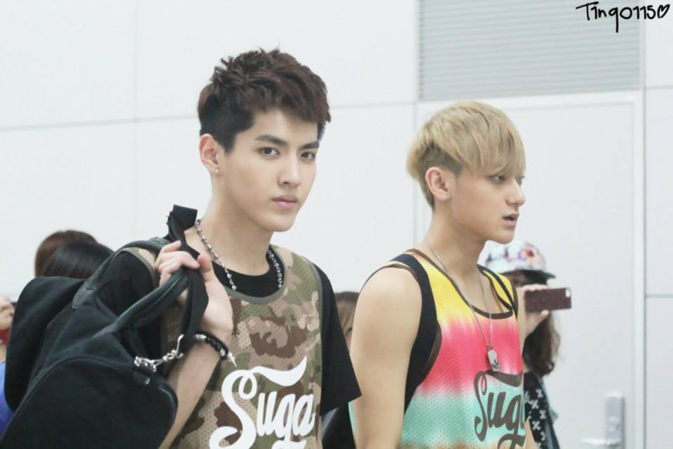Kris  Luhan  Chen and Tao is wearing is called the Denver Sleeveless    Exo Kris Sleeveless