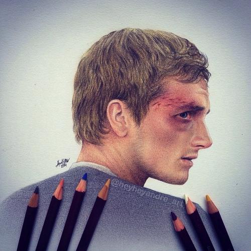 08-Josh-Hutcherson-Peeta Mellark-thg-André-Manguba-Celebrities-Drawn-and-Colored-in-with-Pencils-www-designstack-co