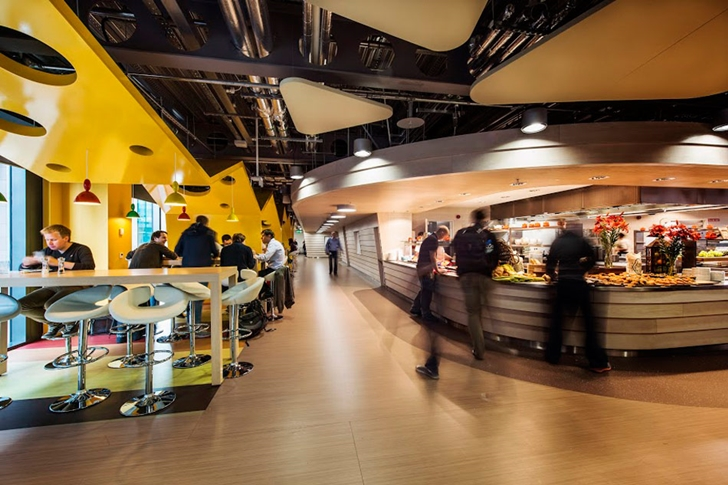 Large restaurant in Google office in Dublin
