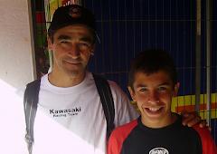 Con Marc Márquez (2008)