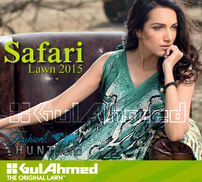 Gul Ahmed - Safari Lawn 2015 Catalog/Magazine