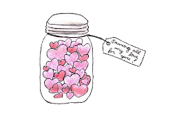 Tarro de corazones rotos