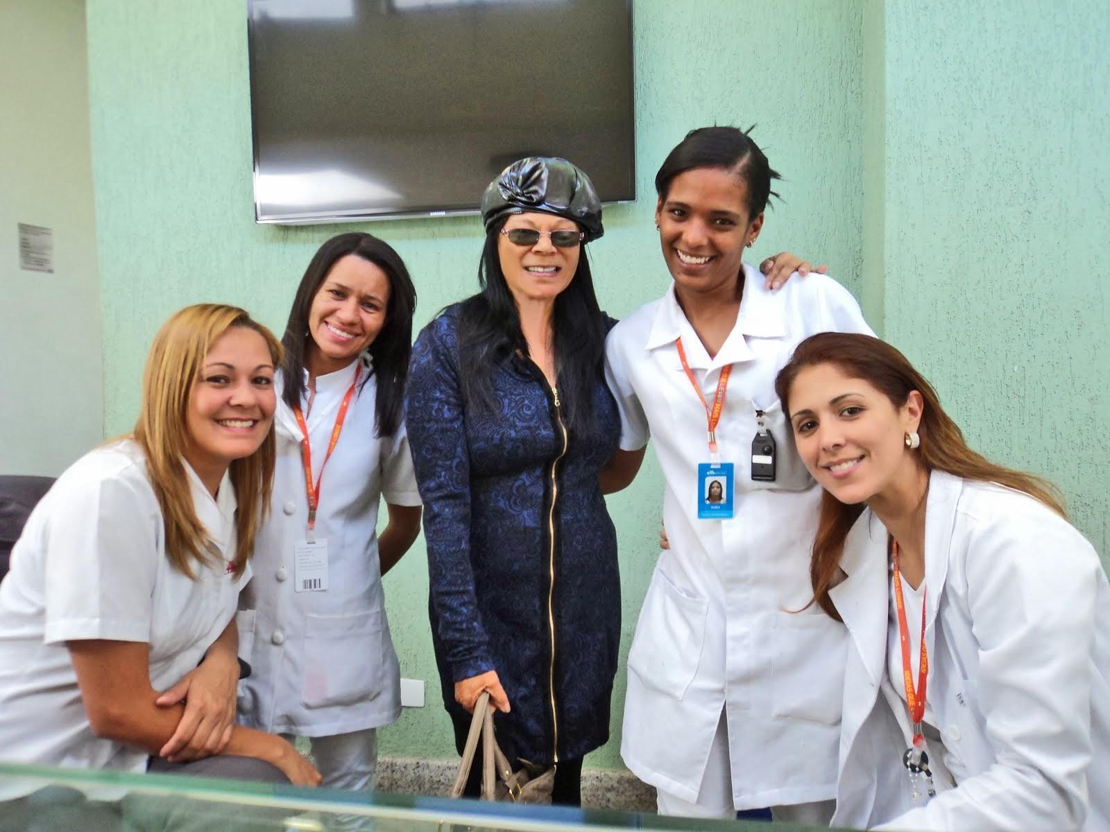 Minha Saida do Hospital... foi motivo de comemoração no Centro Clínico!