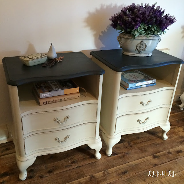 french painted bedside table Lilyfield Life