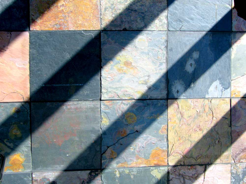 square tiles and diagonal shadows - &#169; David Ocker
