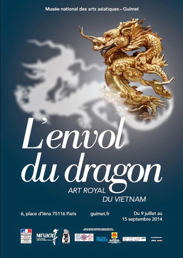 affiche envol du dragon art royal du vietnam exposition musée guimet
