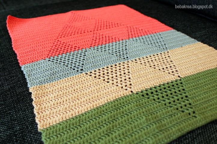 Hækling Harlekinshåndklæde