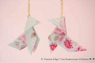 bijoux poétique romantique origami
