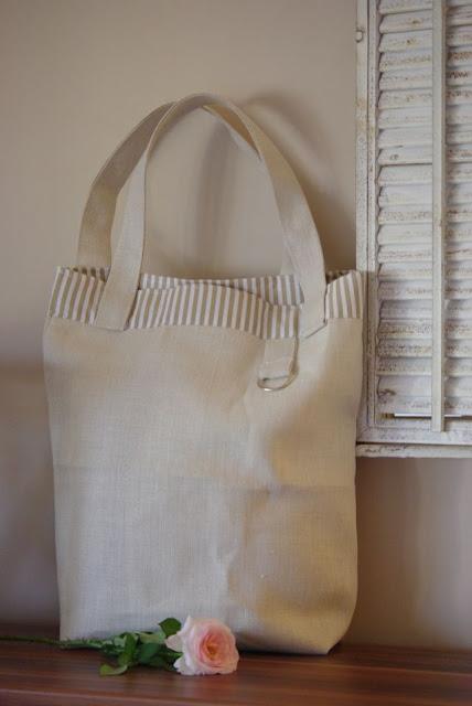 lniana torba, len na torbę, torba rękodzieło,