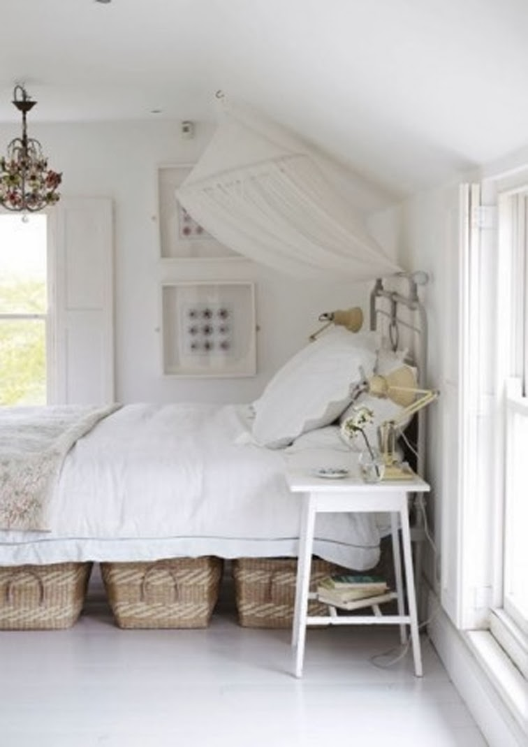 All white bedroom cottage decor shabby shic