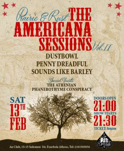 Dustbowl, Penny Dreadful, Sounds Like Barley: Σάββατο 13 Φεβρουαρίου @ An Club
