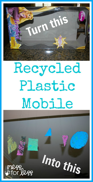 Turn an old toy box into a work of art. Love how this teaches kids about recycling.