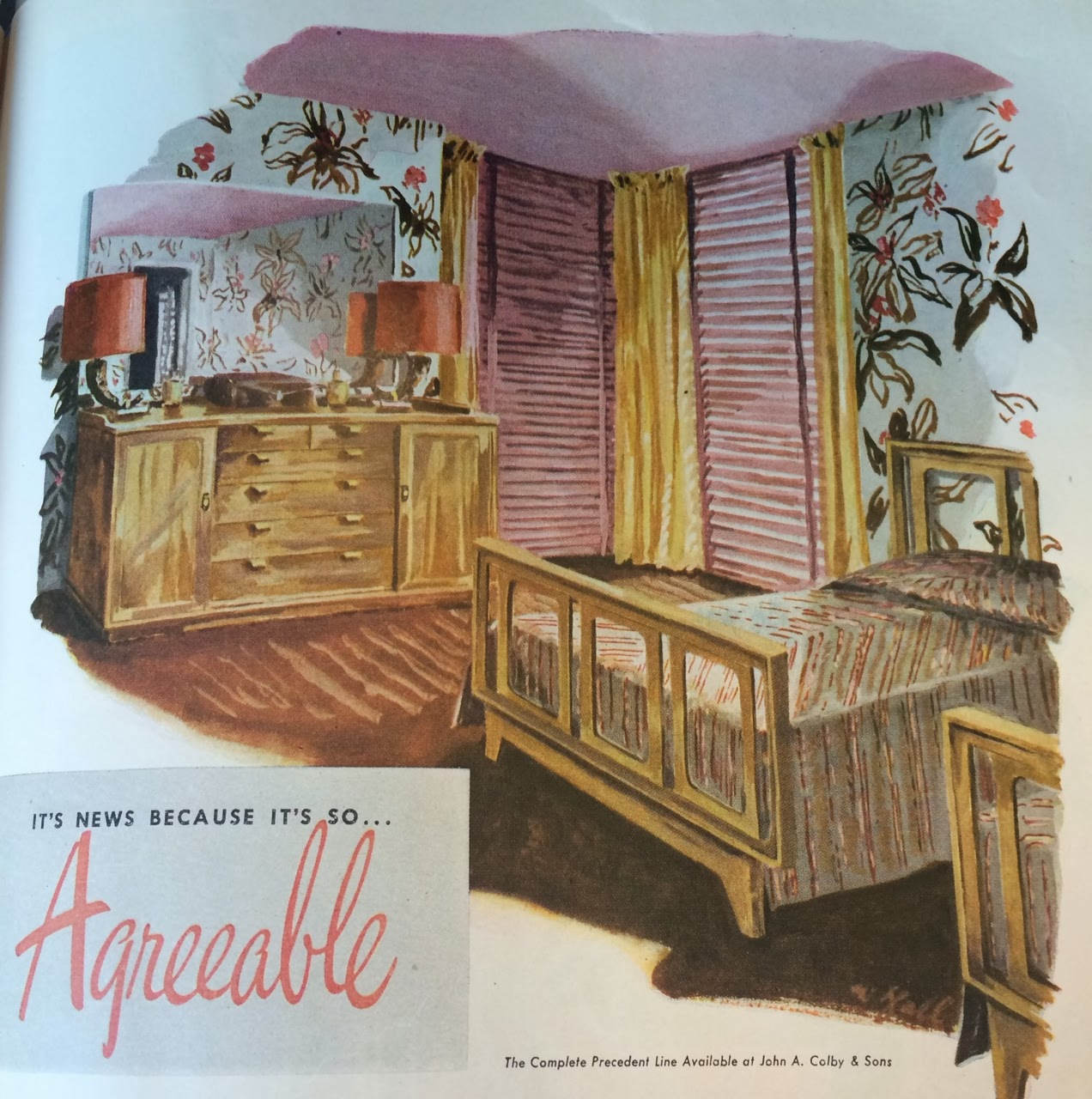 My Pretty Baby Cried She Was A Bird: Drexel Precedent Furniture (Midcentury  MARVELOUS, 1947)