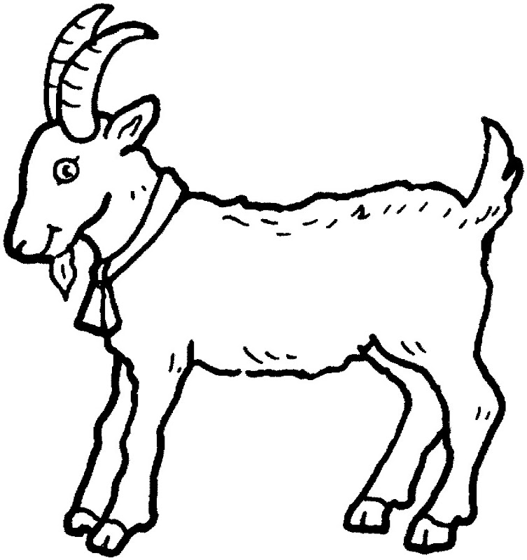 19 Animal Goats Printable Coloring Sheet title=
