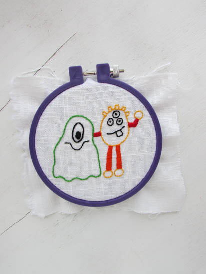 A Lively Hope Free Halloween Monsters Hand Embroidery Pattern