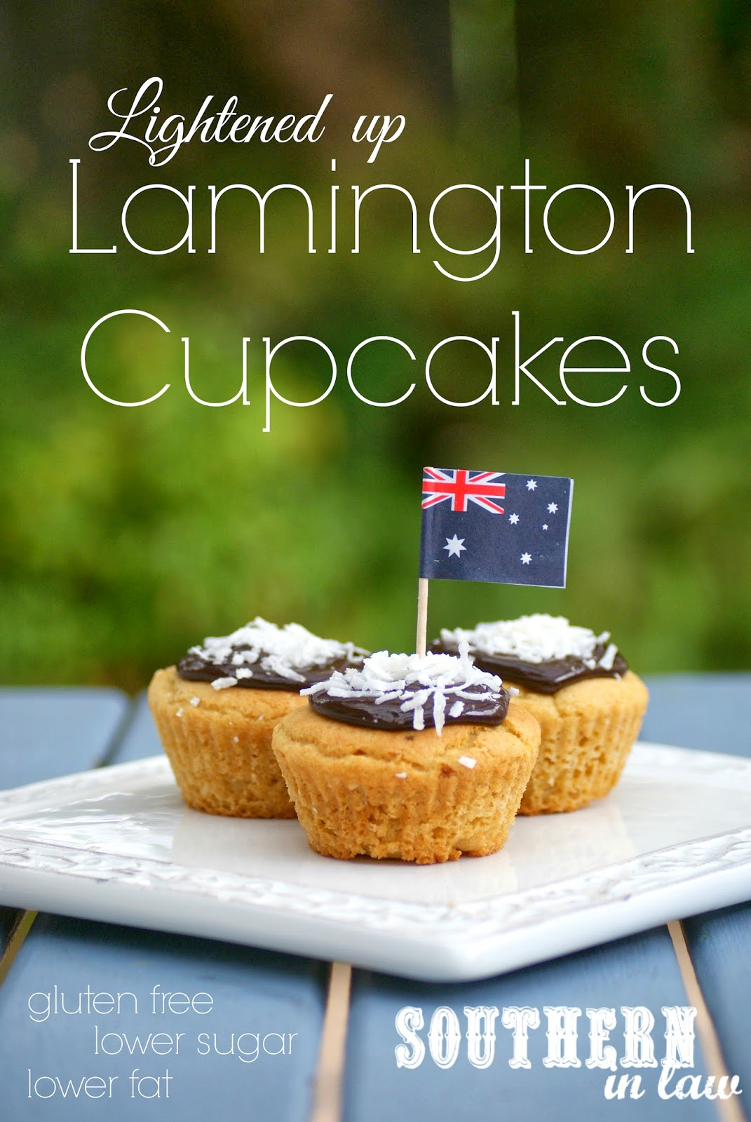 Lightened Up Lamington Cupcakes - Low Fat Butter Cake Recipe - Gluten Free, Low Sugar