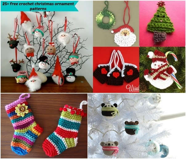 25+ free crochet Christmas ornament patterns