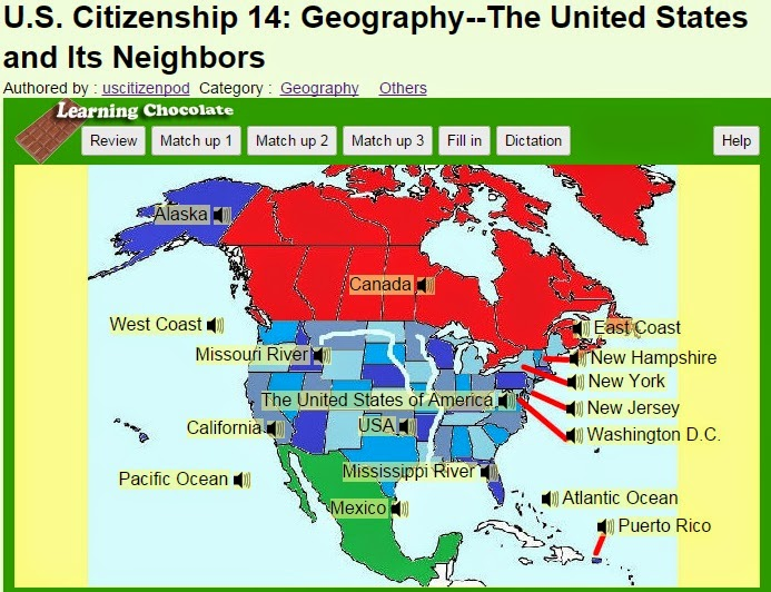 US Citizenship Podcast November - Us citizenshipion map