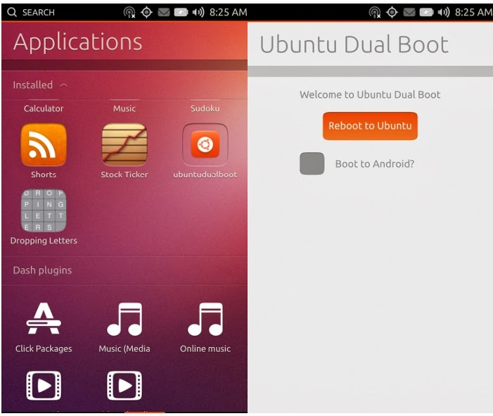 Canonical test dual boot Ubuntu App for Android, Canonical test dual boot Ubuntu App for Android