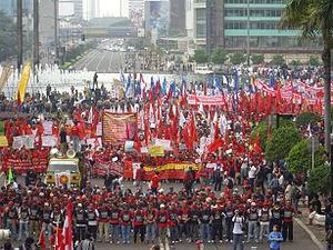 Pawai Hari Buruh 1 Mei 2008 di Jakarta