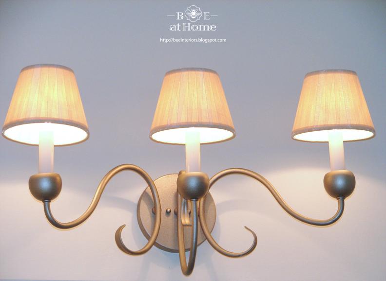 Upcycled Vanity Light : B.E. Interiors: Upcycled Vanity Light