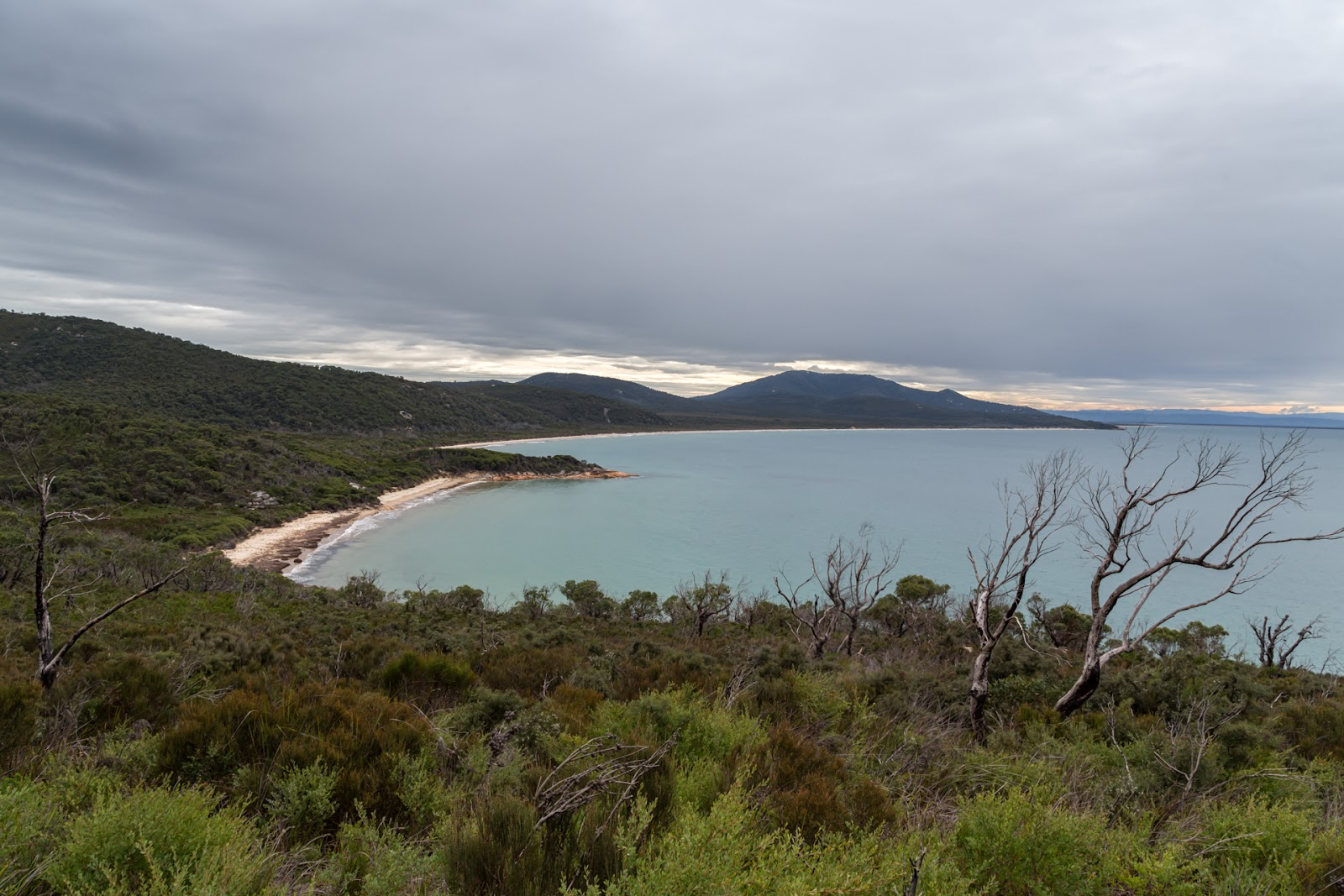 three mile beach from three mile point wilsons promontory