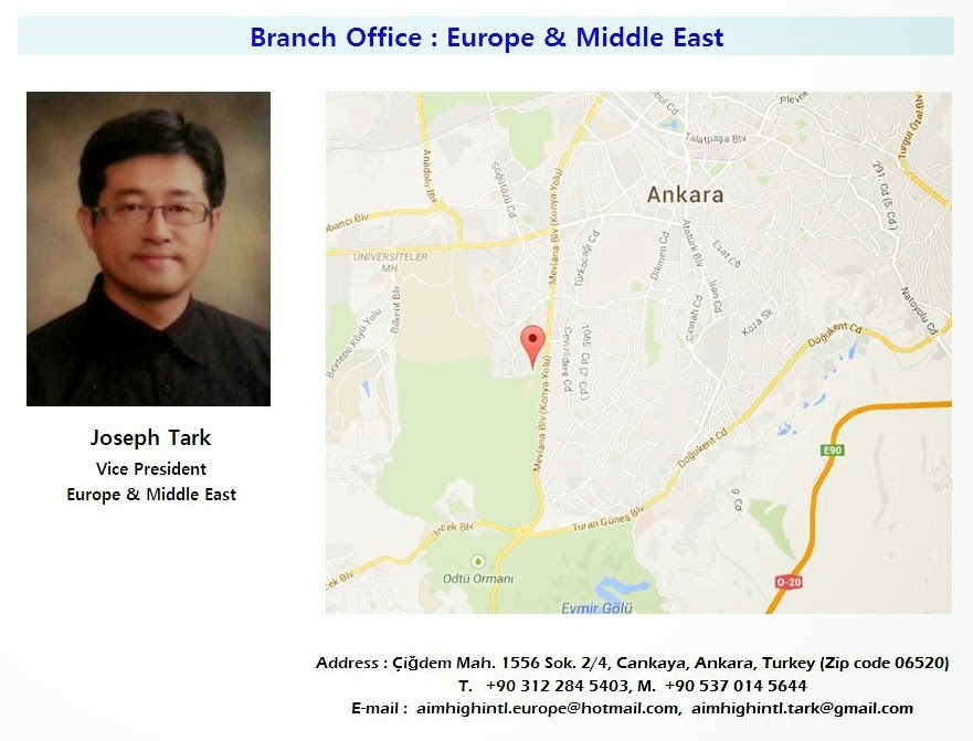 Turkey Branch Office : Europe & Middle East