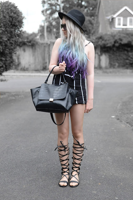 Sammi Jackson - Stripes + Gladiators ft OASAP Playsuit