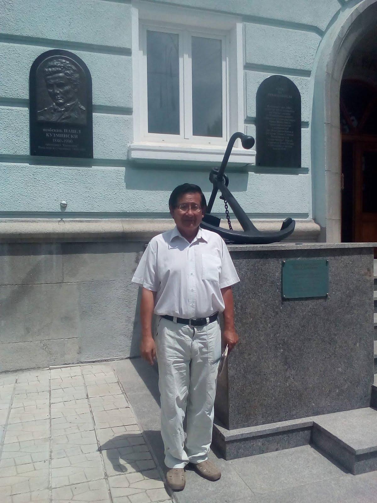 Juan Yupanqui en la Escuela Superior Naval de Varna, Bulgaria
