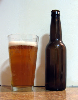 Gose, almost clear after 5 weeks in the bottle.