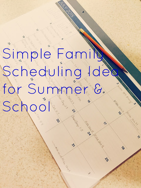 family schedule idea
