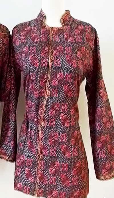 Baju Batik Terbaru Lengan Panjang