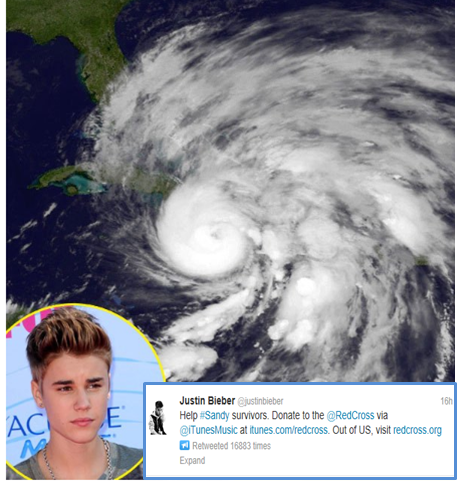 Justin Bieber campaign to help Sandy's Survivors