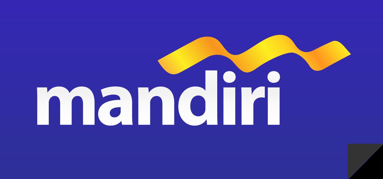 Logo Bank Mandiri Blue Background