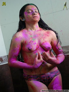 Indian Desi nude holi private nipple exposed
