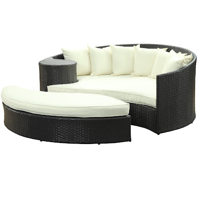 OUTDOOR FURNITURE DAYBED WITH OTTOMAN BACKYARD and PATIOS