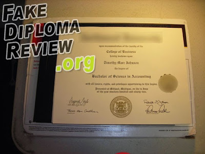 our fake diploma from phonydiploma.com