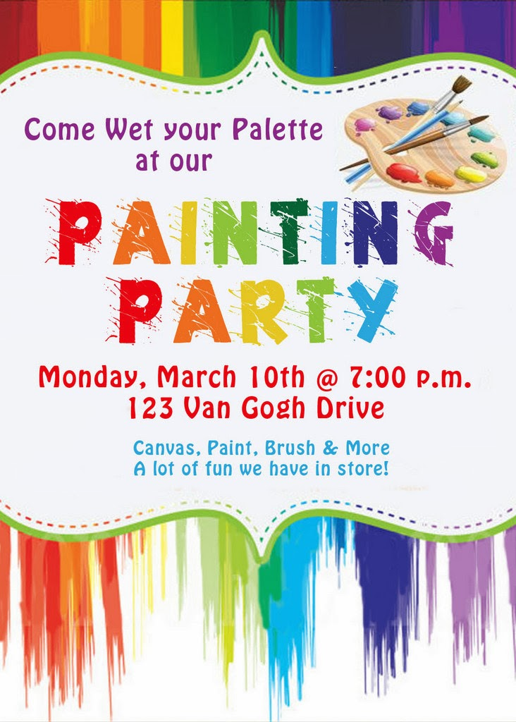 Invite and Delight Painting Party – Painting Birthday Invitations