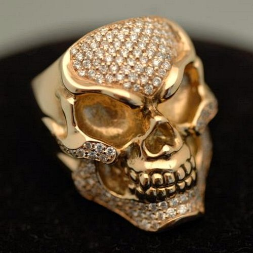 BIKER JEWELRY AND LEATHER EZINE Gold Skull Rings Popular Designers