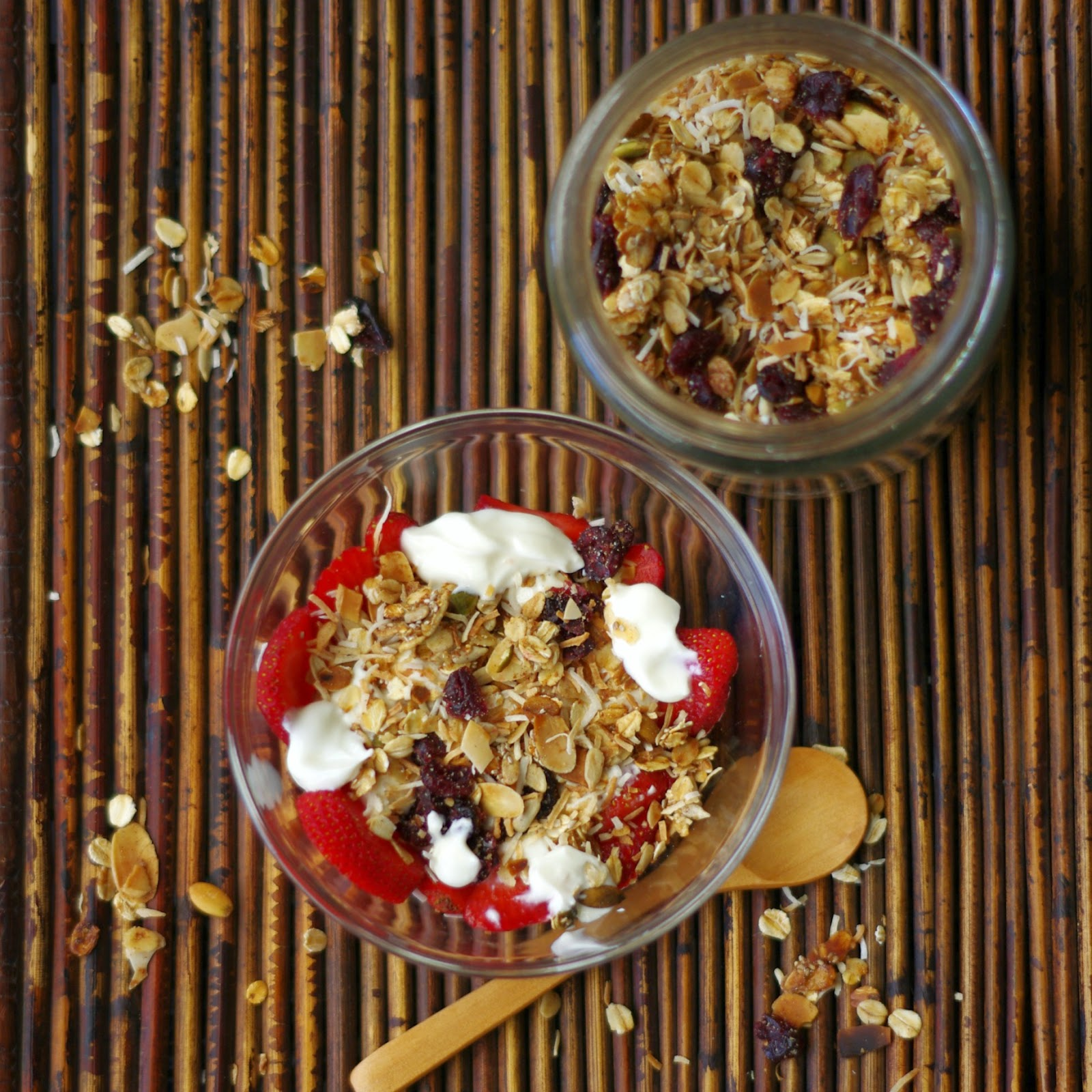 Cranberry and Coconut Muesli Trifle
